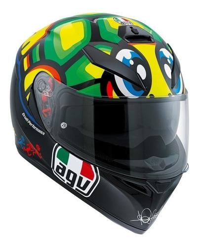 Capacete Agv K3 Sv Turtle/tartaruga pinlock Valentino Rossi