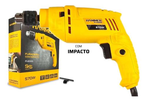 Furadeira De Impacto Eletrica Uso Profissional Hammer
