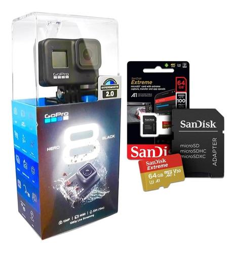 Camera Gopro Hero 8 Black + Cartão Sandisk Extreme 64 Gb
