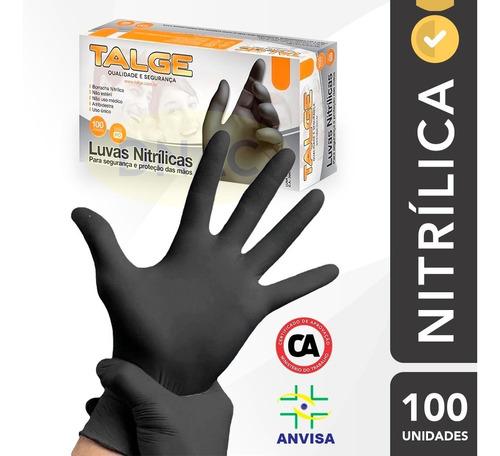 Luva Preta Para Churrasqueiro/barbearia/hamburgueria - 100un