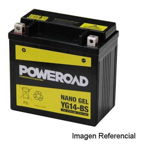 Bateria Moto Poweroad Ytx14-bs San Isidro
