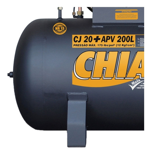 Compressor De Ar 20 Pés 5 Hp 200 L Trifásico Chiaperini 220v