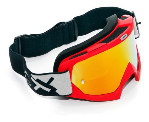 Óculos Motocross Trilha Mattos Racing Combat Vermelho
