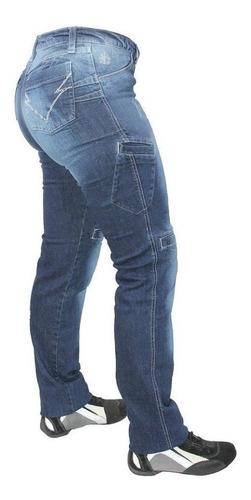 Calça Jeans Com Proteção Moto Hlx Feminina Concept