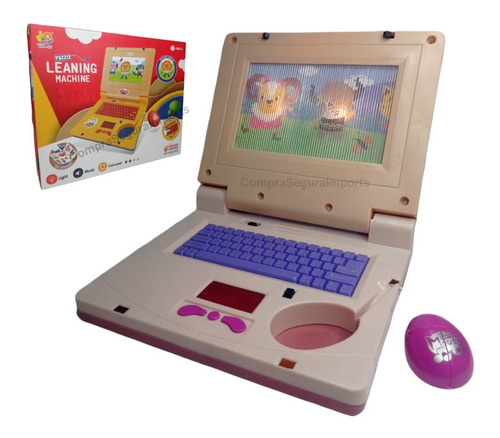 Lap Top De Brinquedo Notebook Infantil Musical C/ Luz Mouse