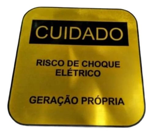 Placa Advertência-risco Choque Geração Propria Cpfl Alumínio
