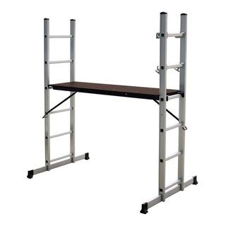 Escalera Andamio Multifunción Aluminio 6 Escalones - Prestigio