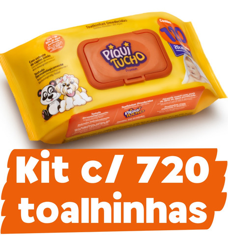 Kit Toalhinha Lenço Umedecido Piquitucho Atacado Barato