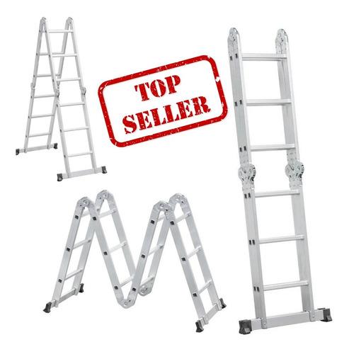 Escada Articulada 4x4 De Alumínio 16 Degraus - Vonder Oferta