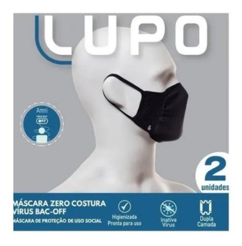 Máscara Lupo Original - Zero Costura - 2 Unidades- Promoção