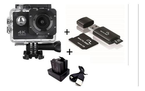 Câmera Go Sports 4k  Prova Dágua + Cartão 16gb + 2 Baterias