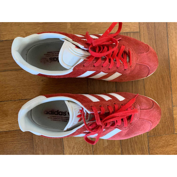 Zapatillas Originals Gazelle adidas Talle 40 Rojo/blanco