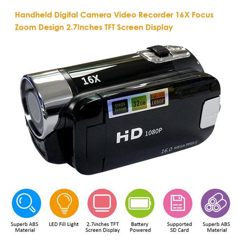 Gravador De Vídeo Da Câmera Digital 16x F-ocus Zoom Design
