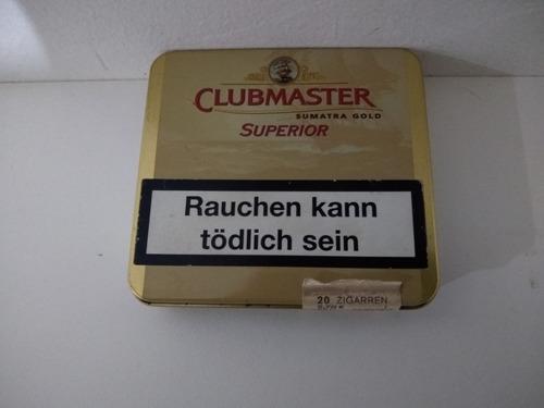 Lata De 20 Cigarros Clubmaster Sumatra Gold Lata Vacia