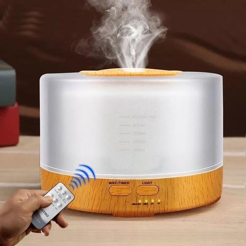 Difusor Aromatizador Umidificador Ultrassônico Cor Madeira