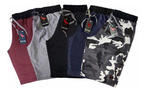 Kit Com 5 Shorts Bermudas De Moletom Masculinos Originail