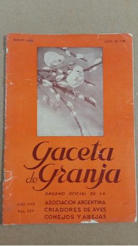 Revista Gaceta De Granja - Año 1938
