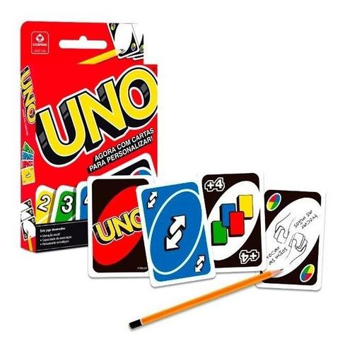 Jogo De Cartas Uno - Com Cartas Para Personalizar