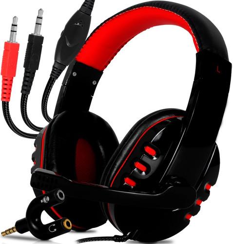 Fone Headset Gamer Para Pc Computador Celular Ps4 Estéreo P2