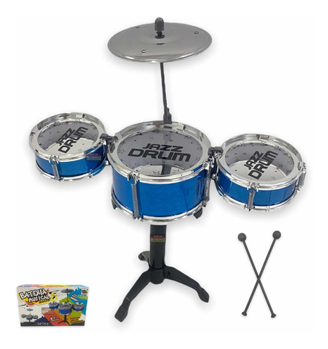 Mini Bateria Instrumento Infantil Completo Happy Jazz Drum