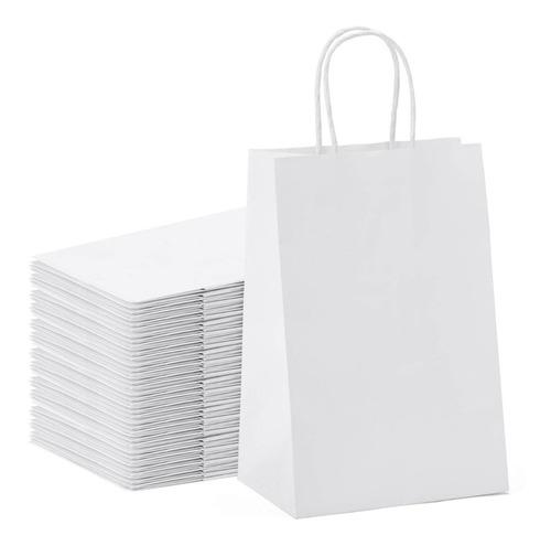 Bolsas De Papel Craft Blancas Lisas X 200 Unidades