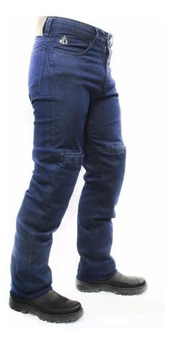 Calça Jeans Com Proteção Moto Masculina Hlx Street