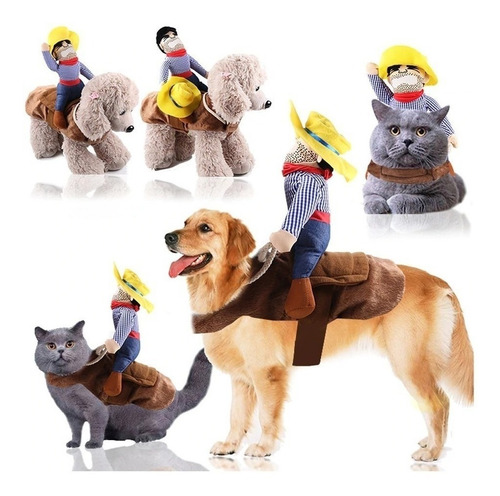 Fantasia De Cowboy Cachorro Gatos Pet Bull Dog Lulu