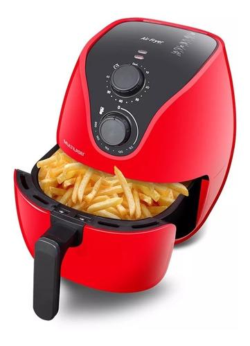 Fritadeira Air Fryer 4 Litros 1500w 220v Elétrica Vermelha