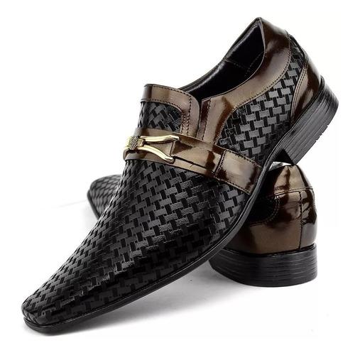 Sapato Social Masculino Couro Legitimo Envernizado Venetto