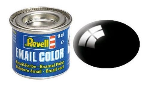 Pintura Revell Enamel Color 108 Negro Mate Autoslot