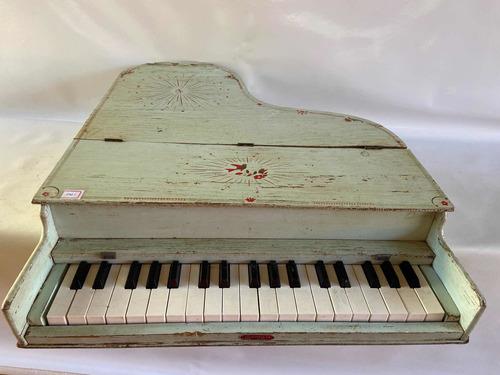 Piano Brinquedo Infantil Madeira Antigo
