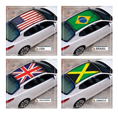 Adesivo Tunning Envelopamento Teto Carro Bandeiras E Marcas