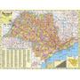 Mapa Do Estado De São Paulo 120cm X 90cm Gigante Dobrado
