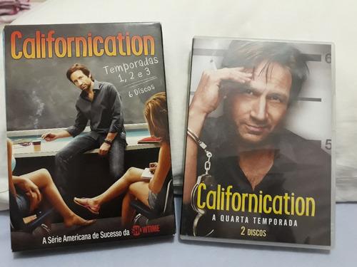 Box Dvd Serie Californication - 4 Temporadas - Original