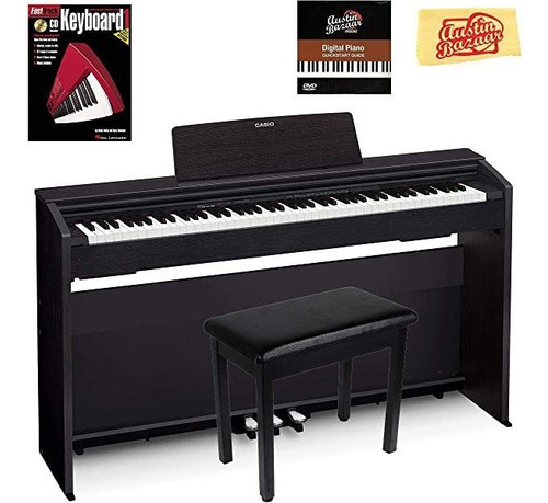 Teclado Casio Privia Px-870 Digital Piano Black Bundle Furni