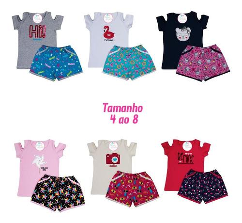 Kit Conjuntinhos Infantil Menina - Kit C/ 6