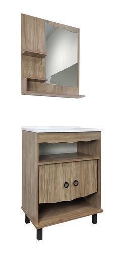 Mueble De Baño Botiquin Bacha Con Espejo Armado Incluido