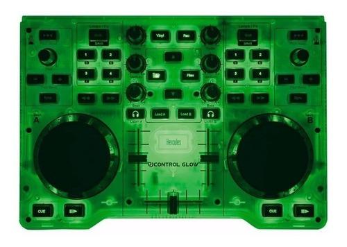 Controlador Dj Hercules Djcontrol Glow Verde De 2 Canales