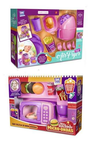 Air Fryer + Micro Ondas Brinquedo Infantil