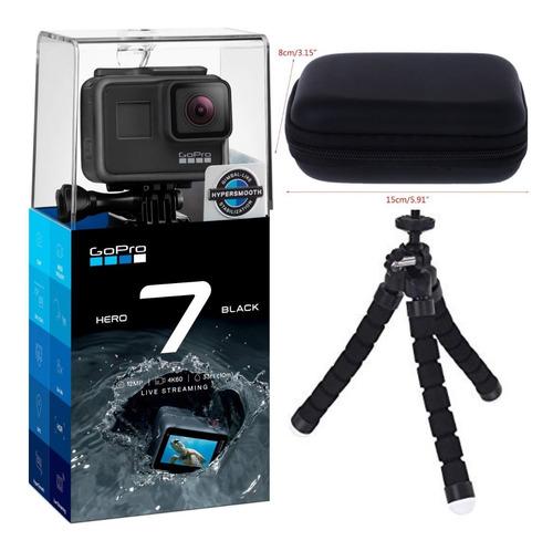 Câmera Hero 7 Black À Prova Dágua 4k + Tripé Flexivel