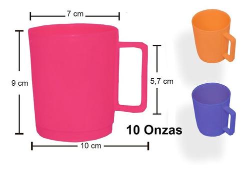 Pocillo Plástico Mugs Nijos 10 Onzas, Colores Surtidos.