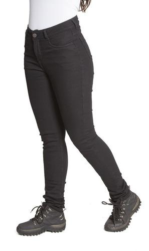 Calça Corse Feminina Moto Jeans Kevlar Com Proteçao Preta