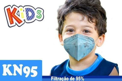 Kit 10 Máscaras Infantil Kn95 Proteção 5 Camada Respiratória