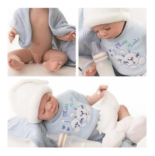 Bebê Reborn Original Menino Legítimo 100% Silicone Macio