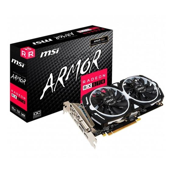 Placa de video AMD MSI Radeon RX 500 Series RX 570 RADEON RX 570 ARMOR 8G OC OC Edition 8GB