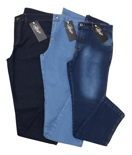 Kit 3 Calças Jeans Masculina Com Lycra.