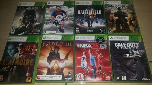 8 Jogos Originais Usados Xbox 360.