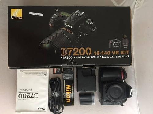 Nikon D7200 24.2 Mp Af-s 18-140mm Vr Kit Lens Digital Slr