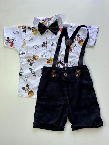 Roupa Temática Mickey Mouse Social Menino