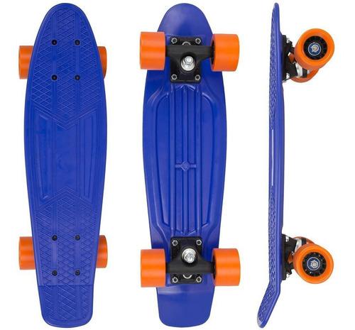 Skate Cruiser X7 Truck Pbt - Cor Azul/laranja